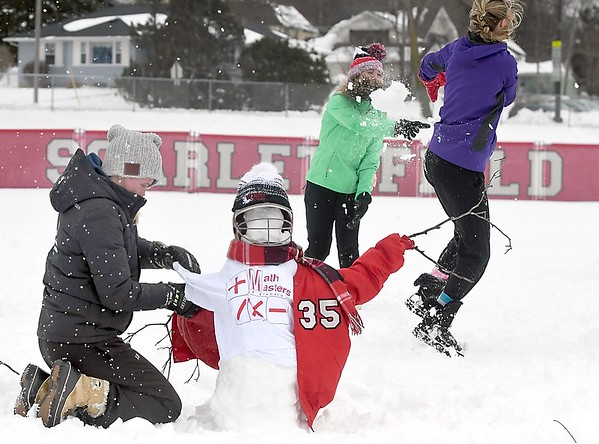West softball in the snow 1