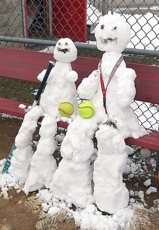 West softball in the snow 5