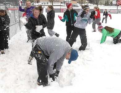 West softball in the snow 2