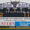 The new scoreboard at Minnesota State's baseball stadium now shows the change to Bowyer Field, named after longtime coach Dean Bowyer. Photo by Jackson Forderer