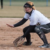 Mankato East's Ana Christofferson fields a ground ball during a doubleheader against Owatonna played at Caswell Park on Tuesday. The Cougars swept the Huskies 6-4 and 15-5. Photo by Jackson Forderer