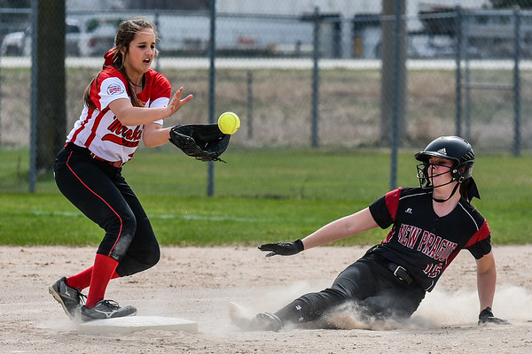 Mankato West vs New Prague Softball 1