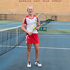 "Anna Egeland, 15, Mankato West's number one singles player said of her expectations this season, ""I really want to improve this season and work on my strokes and overall technique against better players."" Photo by Jackson Forderer"
