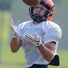 Danny McCabe of Cleveland brings in a catch during practice. Photo by Jackson Forderer