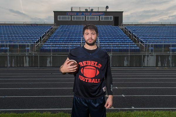 Roel Perales of United South Central is a senior running back for the Rebels. Perales said he hopes the Rebels can make a deep playoff run this season. Photo by Jackson Forderer