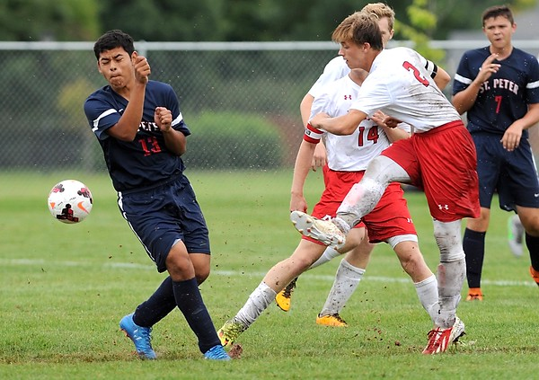 West boys soccer v. St. Peter