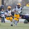 Texas A&M Commerce's Buck Wilson begins his punt return that resulted in a touchdown against Minnesota State University in Saturday's Super Region 4 Final game. The Lions won 31-21 to advance in the Division II playoffs. Photo by Jackson Forderer