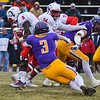 Minnesota State's Zach Robertson (3) tackles Colorado State - Pueblo's running back Bernad McDondle during last Saturday's playoff game. Photo by Jackson Forderer