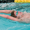 Mankato East/Loyola swimmer Jacob Long practices a streamline kicking drill in the pool at Mankato East on Wednesday. Photo by Jackson Forderer