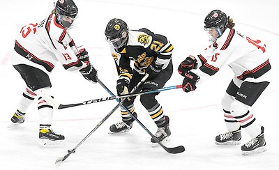 Mankato West v. Mankato East girls hockey 2