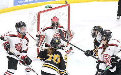 Mankato West v. Mankato East girls hockey 1