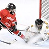 Mankato East/Loyola v. Mankato West girls hockey 2