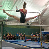 Taryn Sellner competes in the uneven bars event at the Section 2A gymnastics meet held at K&G Gymnastics on Thursday. The West gymnastics team won the Section 2A championship to qualify for the state tournament. Photo by Jackson Forderer