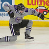 Minnesota State's Marc Michaelis celebrates after scoring the Mavericks first goal against Bemidji State on Friday. The Mavericks would go on to win 2-1 to clinch the regular season WCHA title. Head coach Mike Hastings said Michaelis' goal was a turning point in the game. Photo by Jackson Forderer