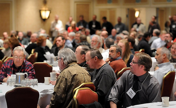 John Cross<br /> Several hundred people from throughout Minnesota gathered in St. Paul Friday and Saturday to discuss conservation and natural resources issues at the DNR's annual Roundtables.