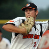 Mankato MoonDogs relief pitcher Trevor Belicek delivers a pitch against Thunder Bay Thursday.