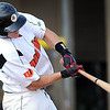 Mankato MoonDogs' Cody Ferrell hits a RBI double during the first inning of their game against Willmar Saturday at Franklin Rogers Park.