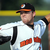 Mankato MoonDogs starting pitcher Zach Hall delivers a pitch during their game against Willmar Saturday at Franklin Rogers Park.