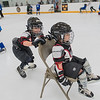 Payton Fredrickson, 7, pushes Zackary Hulke, 4, across the ice on a chair at Gustavus' hockey rink during Tuesday's Try Hockey for Free event. It was Zackary's first time attempting to ice skate. Photo by Jackson Forderer