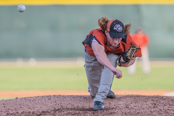 Eau Claire Express' Josh Gaworski delivers a pitch to a Mankato MoonDogs batter in Friday's game played at Franklin Rogers Park. Photo by Jackson Forderer