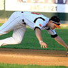 Mankato MoonDogs' Chase Simpson dives for a ground ball during their game against the Alexandria Beetles Friday at Franklin Rogers Park.