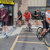 The Flying Penguin Outdoor Sports weekly group bike starts out on their ride on Wednesday. Photo by Jackson Forderer