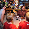 Former Minnesota Twin Terry Steinbach signs autographs at the Hilltop Buffalo Wild Wings before Thursday's Mankato MoonDogs game.