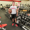 """Jack Foster is the returning quarterback for the Mankato West football team. Foster said that his goals in the weight room this summer were to get bigger, stronger, faster and more flexible """"so that I can be a lot better than I was last year."""" Photo by Jackson Forderer"""