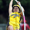 Mankato East's Shelby Seifert competes in the girls pole vault during Friday's Section 2AA meet at Gustavus Adolphus College.