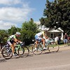 Pat Christman<br /> Women's riders struggle up Main Street hill Saturday.