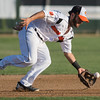 Alvaro Rubalcaba fields a ground ball at second base in the MoonDogs game against the Bismarck Larks on Friday. Photo by Jackson Forderer