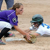 Maple River's Carly Lloyd slides in to second base ahead of the throw to Albany's Alyssa Stangler during their State Class AA game Thursday at Caswell Park.