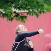 Pat Christman<br /> St. Clair's Katelyn Weber throws during the girls shot put finals Saturday in St. Paul. Weber won a state title with a best throw of 42 feet, 8.5 inches.