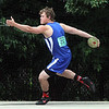 Waseca's Tyler Kolander throws during the discus throw at the State Class A track and field meet Saturday. Kolander placed second in the event. Photo by Pat Christman