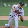 Mankato West's Josh Johnson delivers a pitch to a Marshall batter in the first game of the Section 2AAA championship round played in New Ulm on Wednesday. Johnson and the West defense held Marshall to 3 runs in the first game. Photo by Jackson Forderer