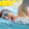 Mankato West's Jake Bjork swims in the 500-yard freestyle event at the State Swimming and Diving meet at the University of Minnesota Aquatic Center.