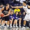 Minnesota State's Assem Marei (50) guards Winona State's Clayton Vette (44) during their matchup at the Taylor Center Dec. 7.