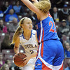 Loyola's Megan Schroeder looks to pass during the first half of the Class A semifinal game Thursday at Williams Arena. Pat Christman