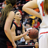 NRHEG's Carlie Wagner shoots a free throw to break her own single game state tournament scoring record during the second half of the Class AA quarterfinal game Wednesday at Mariucci Arena. Wagner ended the game with 53 points. Pat Christman