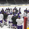 MSU men's hockey NCAA practice