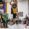 Alex Fette competes in the triple jump during the track meet held on Thursday at Myers Field House. Photo by Jackson Forderer