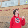 Blake Cordes, a senior at Mankato West, will be playing first doubles and first or second singles for the Scarlets boys tennis team this season. Photo by Jackson Forderer