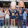 St. Peter students cheer for the girls basketball during introductions of Wednesday's Class AA quarterfinal final game played at the Pavilion in Williams Arena. Photo by Jackson Forderer
