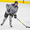Minnesota State's Daniel Brickley looks up ice to pass the puck to a teammate during a game against University of Alaska-Fairbanks played on March 2. Photo by Jackson Forderer