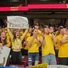 Mankato East students cheer on the team as introductions were made for the starters before Wednesday's game played at Williams Arena. Photo by Jackson Forderer