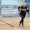 Pat Christman<br /> Gustavus Adolphus College's Christina Riester lays down a bunt during the second inning of their MIAC tournament game against Carleton Friday at Caswell Park.