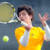 Mankato East/Loyola freshman Dominic Cannella continued to roll on Thursday, earning a 6-1, 6-1 victory at No. 2 singles. The victory helped the Cougars improve to 6-4 on the season.