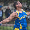 Jacob Hertzog of Waseca throws in the discus event at the Cougar Relays held at Mankato East on Thursday. Hertzog's longest throw was 104 feet and nine inches, helping Waseca to take first as a team in the event. Photo by Jackson Forderer
