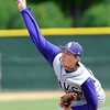 Minnesota State pitcher Bryce Bellin delivers a pitch during the seventh inning of their NCAA Division II Central Region baseball game against St. Cloud State Sunday.