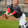 United South Central catcher Riley Kloos can't quite get to a foul ball in action against Loyola at Franklin Rogers Park on Monday. Photo by John Cross